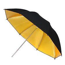 Parapluie Studio Photo Video Reflecteur Diffuseur Professionnel Or Noire 84 cm