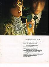 PUBLICITE  1973   LANVIN    parfum  VIA