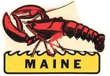 Maine  Lobster    ME      Vintage 1950's-Style   Travel Decal/Sticker