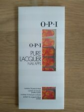 O.P.I PURE LACQUER NAIL APPS - PEACOCK - 16 PRE CUT STRIPS