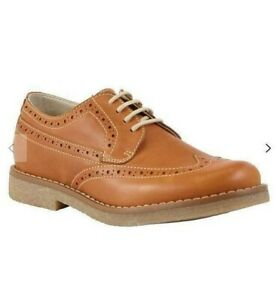 John Lewis Heirloom Collection Children's William Brogue Shoes / Tan Size 34 New