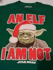 Star Wars Yoda t-shirt xmas an Elf I am not tshirt  New Youth L kid boy large