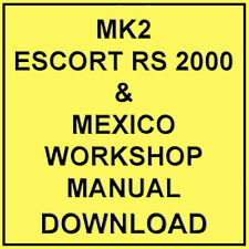 buy escort workshop manuals car manuals and literature ebay