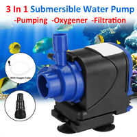 Electric Submersible Water Fountain Pump Aquarium Pond Garden Pool Fish Tank w