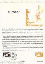 DOCUMENT PHILATÉLIQUE - TELECOM I - 1er JOUR 1984