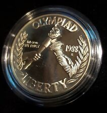 1988 US TREASURY MINT UNITED STATES OLYMPIC SILVER DOLLAR COIN PROOF CASE & COA