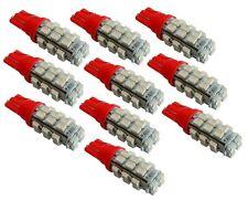 10x ampoule T10 W5W 12V 28LED SMD rouge veilleuses éclairage intérieur coffre