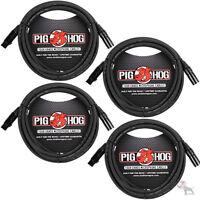 Strukture Pig Hog 15ft Lifetime Guarantee Tour Grade XLR Microphone Cable 4-Pack