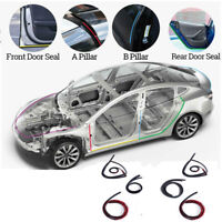 6 Pcs Car Door Dustproof Sealing Strip Noise Reduction For Tesla MODEL 3/S/X