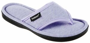 Isotoner Womens Heathered Jersey Thong Slippers
