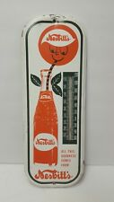 Vintage Nesbitts Orange Soda Thermometer Sign Bottle  Los Angeles California LA