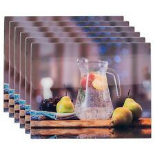 Glass Worktop Saver Non-Slip Kitchen Chopping Board - Water Jug - 500 x 400mm x6