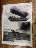 1919 Big Gun Fire In France WWI Photo-illustrations by James H. Hare