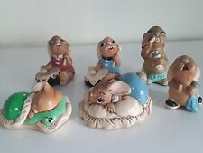 Vintage Pendelfin Stoneware Bunny Rabbit Figurine Lot of 6 Minor Cosmetic Flaws