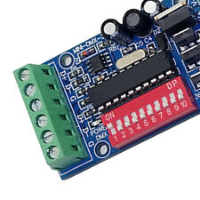 3 Channel DMX512 Decoder 15A RGB Controller LED Stage lighting Driver Board Top