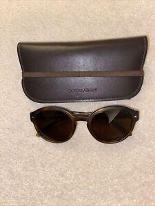 GIORGIO ARMANI Classic Brown Ladies Sunglasses