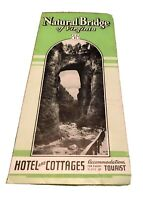 Vintage Travel Brochure Natural Bridge of Virginia Hotel Cottages U.S. 11 VA