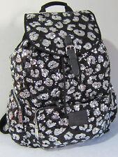 VICTORIA SECRET PINK Dog BLING SEQUIN Leopard BACKPACK BOOK BAG School Travel