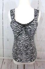 2e284e5ca25811 New ListingWhite House Black Market Cami Tank Top Small Lace Animal Print  Sleeveless