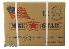 Case of 12 MRE-Star MREs, Military Style Meals Ready to Eat -- 2/16 Production!