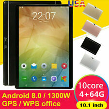 "10.1"" HD Tablet PC Android 8.0 10 Core 64GB Dual Camera WIFI Dual SIM Phablet US"