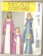 McCall's Pattern M6141 Child Princess Renaissance Medieval Costume Sz 3-8