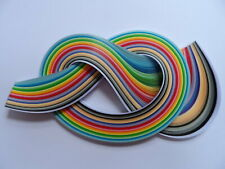 Quilling Paper 3mm 175 Strips Assorted Colours 450mm Long