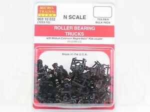 N Scale Micro-Trains MTL 00310032 (1033-10) Roller Bearing Trucks 10 Pair
