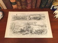 Original Antique Civil War CHARLESTON SAVANNAH RAILROAD Panoramic Map Engraving