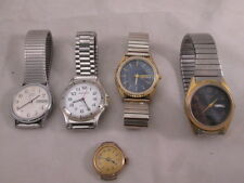 Vintage 5 Wristwatches 4 Mens 1 Womens Citizen Quartz Watch-It Timex Sharp
