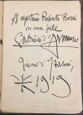 Gabriele D'Annunzio Libro Italia o Morte Autografato