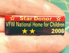 VFW Pin - Star Donor VFW National Home For Children 2005 hat pin - 2 gold stars