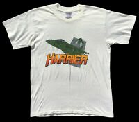 T-shirt Men's Plane Harrier Jet 1988 Vintage sz Large Oneita Tee