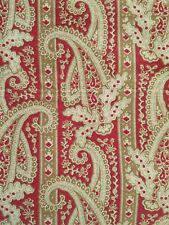 "EDDIE BAUER HOME Flat Sheet Queen RED CAMEL PAISLEY SATEEN 90"" w"