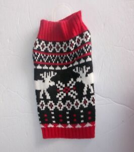Holiday Time Simply Dog Size XS Black And Red Dog Sweater Chihuahau Etc..