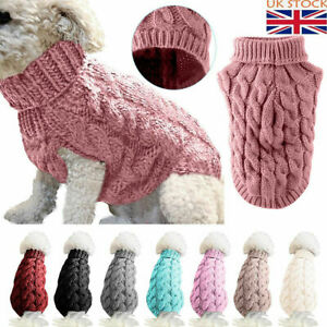 Pet Cat Dog Knitted Jumper Winter Sweater Warm Coat Puppy Clothes Apparel