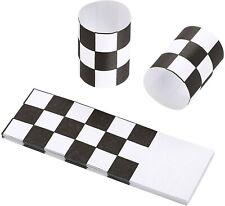 Gmark Paper Napkin Band Box of 2500, Paper Napkin Rings self (Black White)