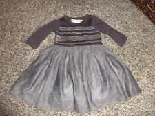 BOUTIQUE BABY LULU 6M 6 MONTHS GRAY SEQUEN DRESS TULLE