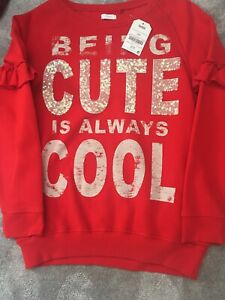 Lovely Girls Red Jumper Age 11 Years BNWT