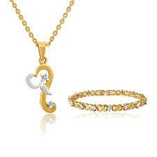Mahi Combo of gold plated bracelet and Ganesh pendant for Women CO1104332G