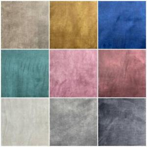 High Quality Soft Coniston Brushed Plush Velvet Upholstery Fabric Material Sofa