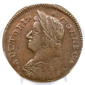 1787 33.1-Z.19 R-5 PCGS MS 62 BN Bust Left Connecticut Colonial Copper Coin