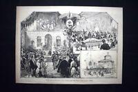 L'inaugurazione dell'Esposizione di Biella Incisione del 1882