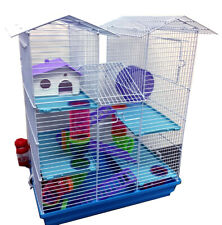 5-Floors Large Twin Tower Hamsters Habitat Rodent Gerbil Mouse Mice Rats Cage