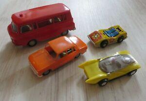 DDR Spielzeug 4x Autos Fahrzeuge Plaste + Blech Barkas, Wartburg, Rennwagen