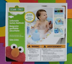 Sesame Street Inflatable Safety Bathtub For 12 to 24 Month Old