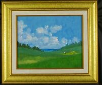 Original Cape Cod Artist Gay Dickerson Oil Painting On the Green Listed