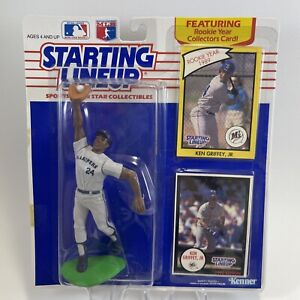 KEN GRIFFEY JR 1990 Starting Lineup Figure And Rookie Card ⚾️ FACTORY SEALED