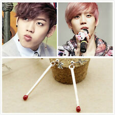 DONG WOO INFINITE Alloy Matchstick EARRINGS Rose Red KPOP NEW FR612