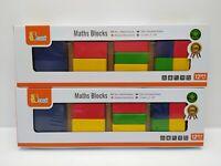 Set of 2 x Viga Wooden Maths Block Puzzles - Age 12 Months+ - BNIB - 58647